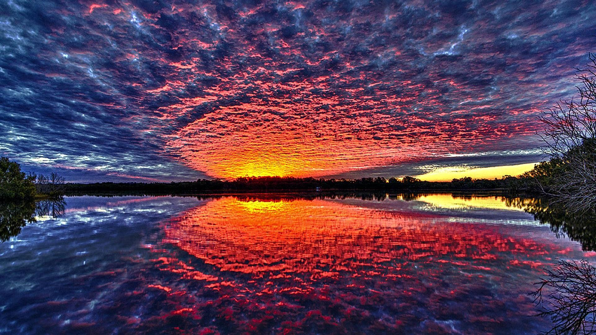 sunsets-stunning-sunset-reflection-hdr-lake-clouds-trees-high-quality-wallpaper.jpg